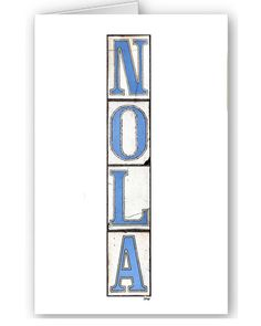 Custom Card Set  New Orleans   Nola Tiles  by BethDaiglePhotograph