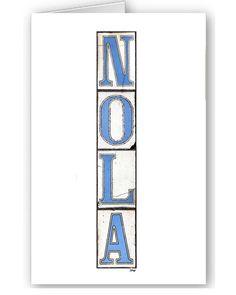 Custom Card Set  New Orleans   Nola Tiles  by BethDaiglePhotograph