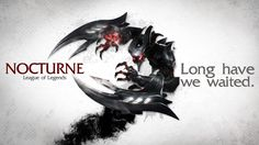 League of Legends Wallpaper - Nocturne by ~deSess on deviantART Backgrounds Free, Wallpaper Backgrounds, Wallpapers, Nocturne, League Of Legends Memes, Gaming, Movies And Tv Shows, Creatures, Lol
