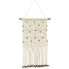 Beaded Wall Hanging (85 CAD) ❤ liked on Polyvore featuring home, home decor and wall art