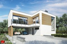 Projekt Vertikal - elewacja domu