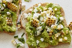 Charred Corn and Goat Cheese Avocado Toast - What's Gaby Cooking