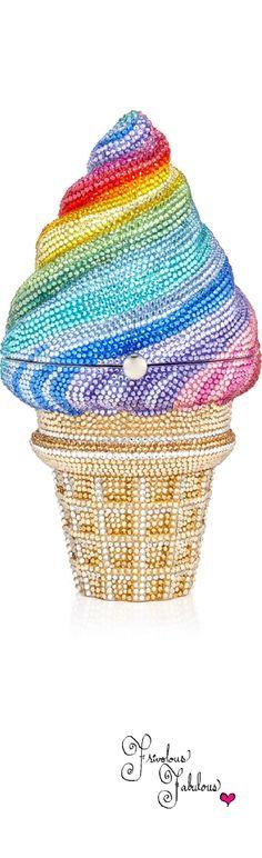 Frivolous Fabulous - Judith Lieber Rainbow Ice Cream 2015 for Miss Frivolous Fabulous