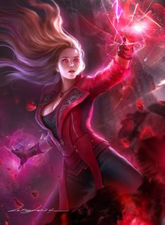 A personal exercise on the scarlet witch,The last one had a screen size for the screen saver. Marvel Fan Art, Marvel Comics Art, Marvel Heroes, Captain Marvel, Marvel Women, Marvel Girls, Comics Girls, Scarlet Witch Marvel, Harmonie Mario