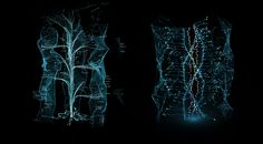 Tree UI design. From Tron Legacy movie.