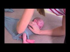 Newborn Wrapping Technique, Wrapping Baby on a Beanbag - YouTube