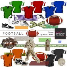 Football Elements Kit by Brooke Gazarek | Pixel Scrapper digital scrapbooking
