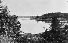 Östersundom, Björkudden,  havsutsikt mot söder. T.h. Björnsö, 1884. Svenska litteratursällskapet i Finland