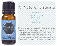 All Natural Cleaning - antiviral, antibacterial, antifungal, and antiseptic