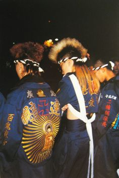 Bosozoku (暴走族). Well, now this is gotta be an old photo. Still pretty cool style though. Actually now their numbers are at the lowest since 70s, when records began. Which is a good thing, I guess...