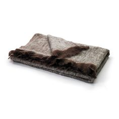 "Eclipse Home Collection Brown & Beige Mohair Throw 76"" L x 52"" W"