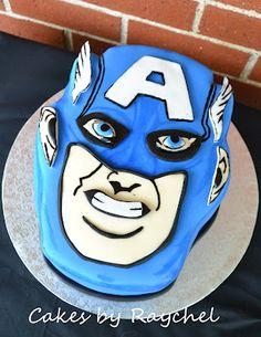 captain america cake/cookies