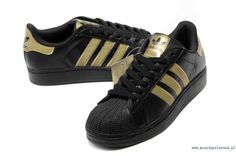 adidas superstar zwart met goud