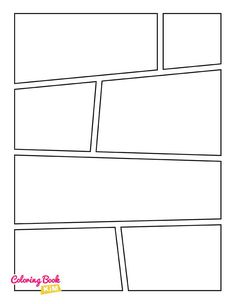 The blank comics to create the best stories for children and adults.