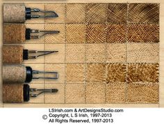 Pyrography / Wood burning pen tip types & what they do. Another useful piece of information ;)