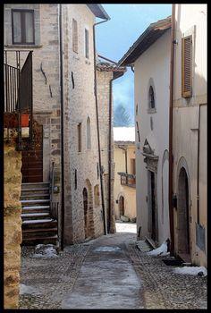 Village of Borgo Cerreto di Spoleto, Perugia, Umbria_ Italy