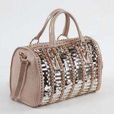 Nicole Lee Cherisse Sequin Convertible Barrel Bag