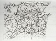 Artist Gabriel Orozco worked with 6a Architects to create a sculptural garden paved in a pattern of interconnected circles for the South London Gallery.
