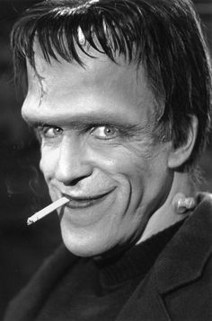Fred Gwynne as Herman Munster rare smiling shot Herman Munster, Tv Retro, Cinema, By Any Means Necessary, The Munsters, Classic Monsters, Old Tv Shows, Classic Tv, Famous Faces