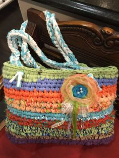 Crochet Bag Rag BagBeach Bag Market BagBoho by LovesGypsyMarket