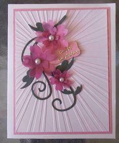 Image result for cards on pinterest using sun rays embossing folder
