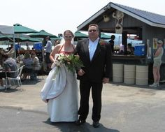 Just because we have a casual atmosphere, doesn't mean we can't get dressed up! #wedding #Dillon Marina