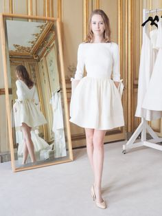 "Robe de mari""e Delphine Manivet collection 2016 l Robe courte l La Fiancée du Panda blog Mariage et Lifestyle #shortdress #weddingdress"