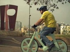 A $20 Bike made of cardboard is headed to market