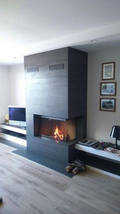 5 Best Decor Ideas for Your Fireplace – Voyage Afield Home Fireplace, Modern Fireplace, Fireplace Surrounds, Fireplace Design, Fireplaces, Inset Stoves, Upstairs Bathrooms, Foyers, Living Room Designs