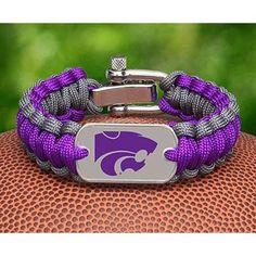 LOVE ~  Kansas State Wildcats Survival Paracord Bracelet