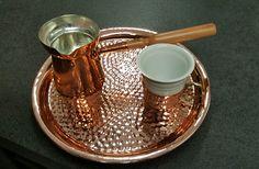 Kaffeeset für türkischen Kaffee! Jedes Stück ein handgefertigtes Unikat!  Handmade Turkish Coffee Set each piece elegant and unique!  #turkishcoffee #coffeeset #beanskaffespezialitäten #Vienna #Shop