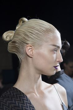 Eugene Souleiman hair look Catwalk Fusion for #HaiderAckermann. #pfw