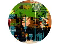 Available in 4 different sizes, round ready to hang modern art from www.the-artwork-factory.com By The Artwork Factory.