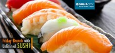 Enjoy a scrumptious #Friday #Brunch along with Unlimited #Sushi, #Pool Access, Free #Internet Access & Free #Parking for AED 59... #Dubai #UAE  Buy Here --> http://www.hitthedeals.com/dubai/today-s-deal/friday-brunch-sushi.html