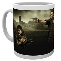Fan of The Walking Dead? Are Daryl Dixon and Rick Grimes your favourites? Well now you can pay homage to them with every cuppa with this brilliant mug featuring the hunting duo on one side in fighting stance and the shows logo on the other. Great gift for any fan of The Walking Dead.