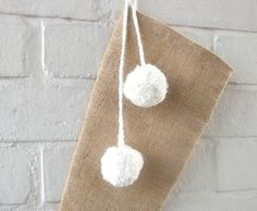 Burlap/Hessian Christmas Stocking with Handmade by HomeDecorLab, $25.00