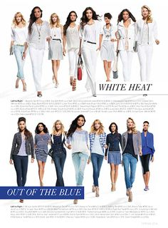 Cabi Spring 2014 Bonus Book - Style Tips and Suggestions - WHITE AND BLUE looks www.kimbrasington.cabionline.com