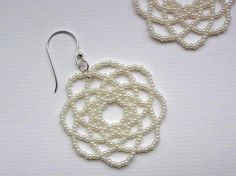 Cream Mandala Earrings