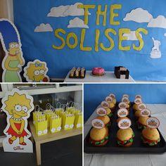 Simpsons themed birthday