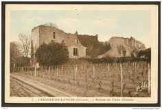 France - FARGUES de LANGON rare Ruines du Vieux Château (Yobled) Gironde (33)