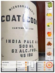 L'India Pale Ale est une IPA brassée par la microbrasserie Coaticook située dans les Cantons de l'Est. Cette bière se présente vêtue d'une robe orangée aux reflets marron agrémentée d'un large col de dentelle fuyant. Elle nous invite aux rapprochements avec des arômes houblonnés aux notes d'orange et de citron. Elle nous offre un corps suave aux saveurs de marmelade d'agrumes accompagnés de pointes caramélisées. Elle se termine sur une finale citronnée et résineuse.