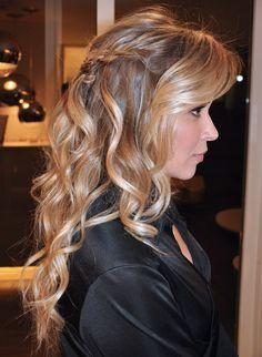 Penteado com cabelo solto