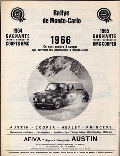 Mini Cooper 'Rallye' advertisment