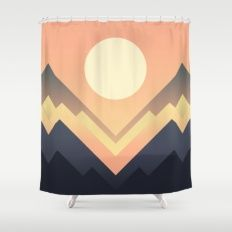 The Sun Rises Shower Curtain