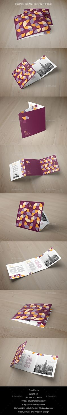 Square Clean Modern Trifold - Brochures Print Templates Download here : https://graphicriver.net/item/square-clean-modern-trifold/20055160?s_rank=131&ref=Al-fatih