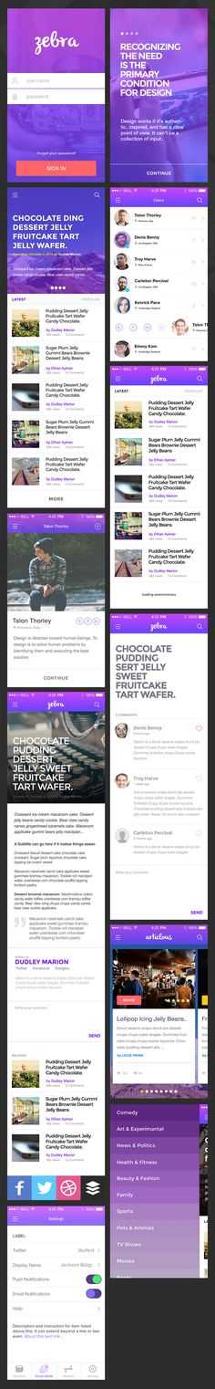 Freebie‬: Zebra – Blog and Article App ‪UI‬ is a application UI design concept for a blog or article app.  Enjoy the freebie and download it for FREE!