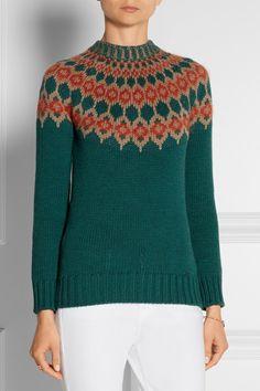 Gucciintarsia wool sweater