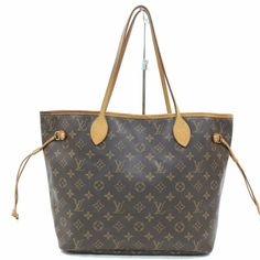 0bb862c9dae1 Authentic Louis Vuitton Tote Bag Neverfull MM M40156 Browns Monogram 345828   fashion  clothing
