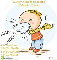 Runny nose & sneezing Kidsafe inhaler: Rosalina, fir needle, spearmint, lavender essential oils