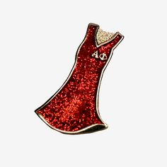 LIMITED EDITION RED DRESS PIN  - For 20 years, Alpha Phi Foundation has been improving women's heart health by funding research and educational programs through its annual Heart to Heart Grant.    In celebration of this special milestone, the Foundation is releasing a limited edition awareness pin that will add sparkle to any wardrobe. By purchasing this pin, you are taking a stand against heart disease - the #1 killer of women.